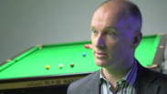Vox Box featuring professional snooker player, Peter Ebdon